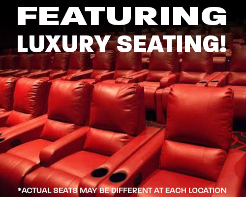 Luxury Seating available at Mckinley 6 Theatres