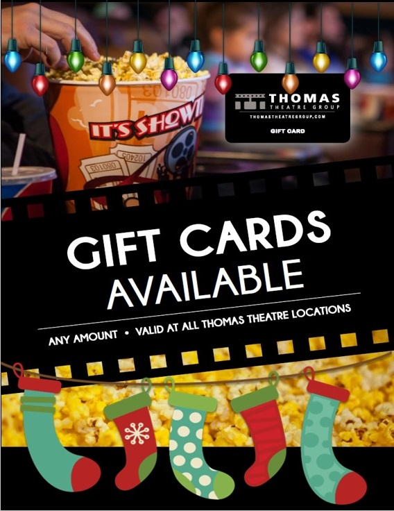 gift cards are the perfect stocking stuffer available online or at the theatre - Christmas At Willow Creek